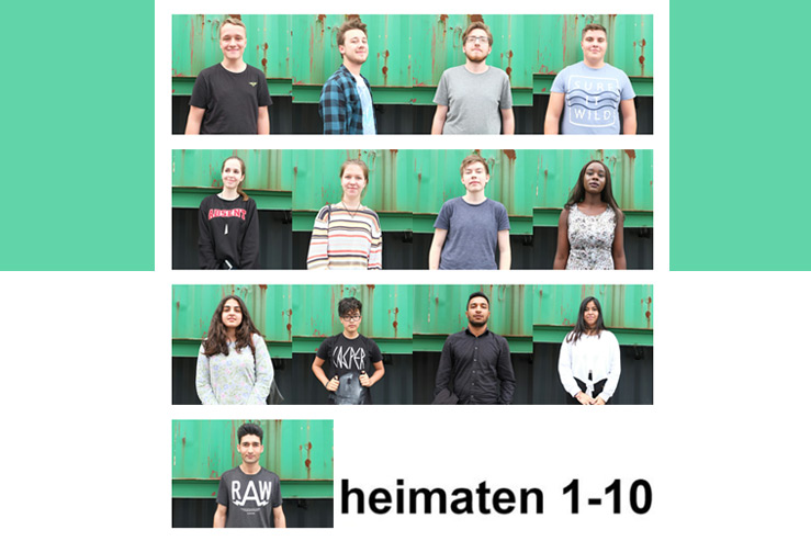 """Heimat-Scouts der Produktion """"heimaten"""" im Jungen Schauspielhaus"""