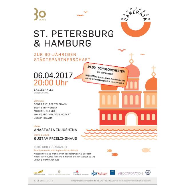 Hamburger Camerata und das Orchester der Sophie-Barat-Schule am 6. April in der Laeiszhalle