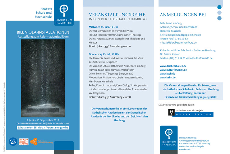 Bill Viola Installationen Flyer