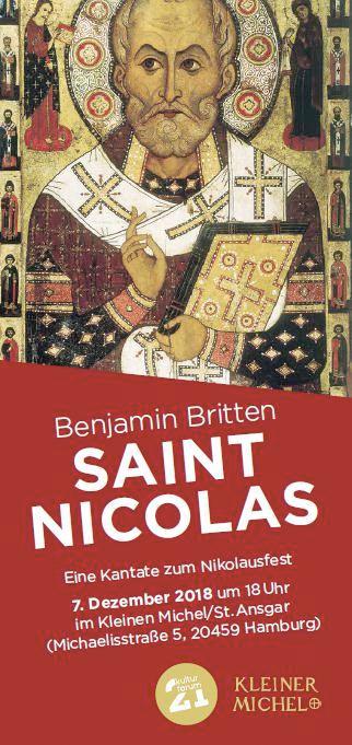 Benjamin Britten, Saint Nicolas